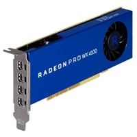 Gráficos para estaciones de trabajo Radeon Dell Radeon™ Pro WX 4100, 4GB, 4 DP, Altura media (KIT)