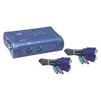 2-port TRENDnet TK 205K - Commutateur KVM - PS/2 - 2 x KVM port(s) - 1 utilisateur local - Ordinateur de bureau