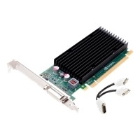 NVIDIA Quadro NVS 300 by PNY - Carte graphique - Quadro NVS 300 - 512 Mo DDR3 - PCIe 2.0 x16 faible encombrement - DVI