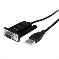 StarTech.com USB to Null Modem RS232 DB9 Serial DCE Adapter Cable with FTDI - Adaptateur série - USB 2.0 - RS-232 - noir