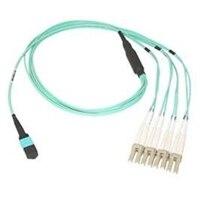 Dell câble réseau 40GbE Single Mode Fiber MTP - 4XLC SMF BREAKOUT 40GbE Active Câble en Optique - 5 m