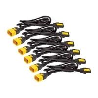 APC - Câble d'alimentation - IEC 320 EN 60320 C13 - IEC 320 EN 60320 C14 - 61 cm - noir - Mondial (pack de 6 )