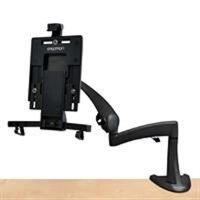 Ergotron Neo-Flex Desk Mount Tablet Arm - Kit de montage pour tablette Web - noir - Taille d'écran : jusqu'à 10 pouces - Interface de montage : 100 x 100 mm, 75 x 75 mm