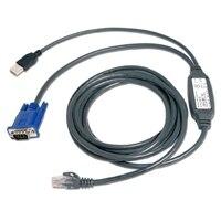 Avocent - Câble vidéo / USB - USB, HD-15 pour RJ-45 (M) - 3.05 m - actif