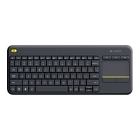 Logitech Wireless Touch Keyboard K400 Plus - Clavier - sans fil - 2.4 GHz - Suisse - noir
