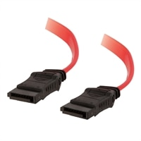 C2G - Câble 7-pin 180° Serial ATA (SATA) - Rouge - 0.5m
