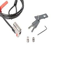 Câble de sécurité ClickSafe utilisable avec les encoches de sécurité Kensington™ et Noble™ des ordinateurs portables et tablettes Dell