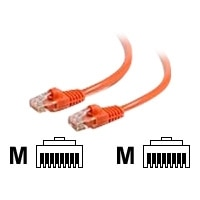 C2G Cat6 550MHz Snagless Patch Cable - Cordon de raccordement - RJ-45 (M) - RJ-45 (M) - 5 m - CAT 6 - Moulé, Toronné, Sans crochet, blindé - orange