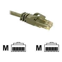 C2G Cat6 550MHz Snagless Patch Cable - Cordon de raccordement - RJ-45 (M) - RJ-45 (M) - 3 m - CAT 6 - Moulé, Toronné, Sans crochet - gris