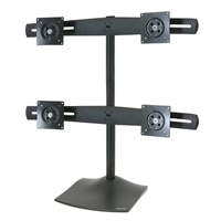 QUAD MONITOR STAND             (2X2) BLACK                      IN