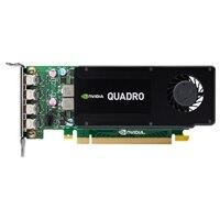 デルの 4GB NVIDIA Quadro K1200 (4 mDP) (4 mDP to DPアダプタ)グラフィックスカード - フルハイト