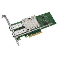 デル製 インテル X520-DA デュアルポート 10 ギガビット SFP+ サーバアダプタギガビットイーサネットPCIe ネットワークインターフェイスカード - 低姿勢