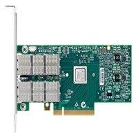 デル製 Mellanox ConnectX-3 デュアルポート VPI FDR QSFP+ アダプタ - ロープロファイル