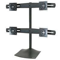 エルゴトロン DS100 Quad-Monitor Desk Stand - スタンド クアッドフラットパネル 用 - アルミニウム, スチール - ブラック -スクリーンサイズ: 最大24インチ