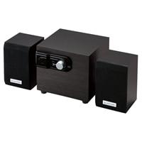 エレコム MS-W02WBK - スピーカーシステム - PC用 - 2.1チャンネル - 12 W (総計) - ブラック