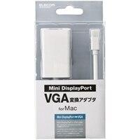 エレコム AD-MDPVGAWH - ディスプレイポートアダプタ - Mini DisplayPort (M) to DB-15 (F) - 15 cm - ホワイト