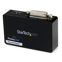 StarTech.com USB 3.0 to HDMI and DVI Dual Monitor External Video Card Adapter 外付けビデオアダプタ - DisplayLink DL-3900 - 1 GB...