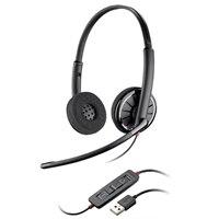 Plantronics 有線USBヘッドセット ブラックワイヤーC320-M(両耳)- MS Lync 推奨モデル #BLACKWIRE C320-M