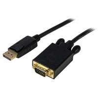 StarTech.com 3 ft DisplayPort to VGA Adapter Converter Cable - DP to VGA 1920x1200 - Black ビデオコンバーター - ブラック