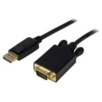 StarTech.com 6ft DisplayPort to VGA Adapter Cable DP to VGA Black - ディスプレイポートケーブル - 1.83 m