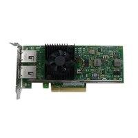 Dell Intel X540 이중의포트 10 Gigabit Base-T 서버 어댑터 이더넷 PCIe 네트워크 인터페이스 카드 - 로우 프로파일