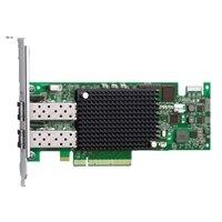 Emulex LightPulse LPe16002B - Host-bus-adapter - PCIe 2.0 x8 low profile - 16Gb Fibre Channel x 2 - voor PowerEdge R520, R530, R620, R630, R715, R720, R720xd, R730, R730xd, R815, R820, r830, R910