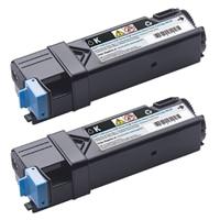 Zwarte tonercartridge met hoge capaciteit, voor de Dell-laserprinter 2150cn/cdn / 2155cn/cdn (2 x 3000 pagina's)