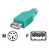 Cables to Go - Adapter voor toetsenbord / muis - 6-pens PS/2 (M) - 4-PIN USB type A (V