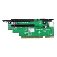 R730 PCIe Utvidelseskort 3, Left, 2 x8 PCIe spor med at least 1 prosessor, CusKit, 2THJW