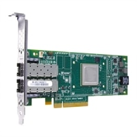 Dell Qlogic 2662 Dual Port 16 GB Fibre Channel-HBA Host Bus Adapter, lav profil