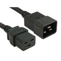 Strømkabel, C20 to C19, PDU Style,16A, 250V, 2ft (0.6m), kundesett