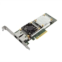 Dell Broadcom 57810 Dual Port 10 Gb Base-T  Adapter for Konvergerende Nettverk - lav Profil