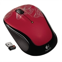 Logitech® Wireless Mouse M325 - Red (Silver Filament)