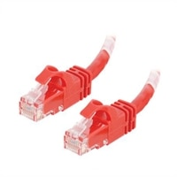 C2G Cat6 550MHz Snagless Patch Cable - koblingskabel - 50 cm - rød