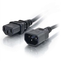 C2G Computer Power Cord Extension - Strømforlengelseskabel - IEC 60320 C13 til IEC 60320 C14 - AC 250 V - 2 m