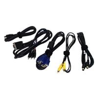 Kabli do projektora firmy Dell M110/M115HD (VGA, kompozytowy, S-Video, HDMI, USB i audio)