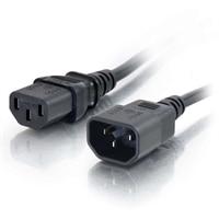 C2G - Kabel Zasilający C13 do C14 - Przedłużacz - Czarny - 1m
