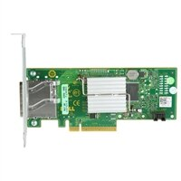 Controlador externo de HBA Serial Attached SCSI de 12Gbps da Dell.
