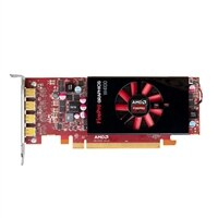 Placa gráfica profissional de perfil baixo AMD FirePro W4100 de 2 GB da Dell
