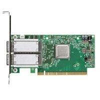 Adaptador de Mellanox ConnectX-4, EDR, QSFP+, e porta dupla perfil baixo da Dell