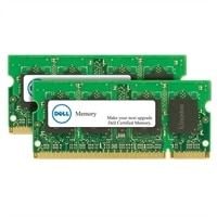 Módulo de memória certificado de 2GB (2 x 1GB) da Dell Kit - DDR2 SODIMM 800MHz