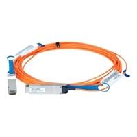 Dell Cabo de rede QSFP28 to QSFP28 100GbE Active Cabo de ótica - 10 m