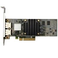 Dell Dual portas 1 Gigabit / 10 Gigabit iSCSI placa de interface de rede Ethernet PCIe BaseT de para placa de rede de servidor - Altura integral