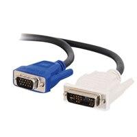 C2G - Cabo VGA - A DVI (M) - HD-15 (M) - 2 m
