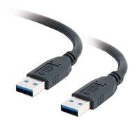 C2G - Cabo USB - USB de 9 pinos Tipo A (M) - USB de 9 pinos Tipo A (M) - 2 m (6.56 ft) ( USB / Hi-Speed USB / USB 3.0 ) - preto