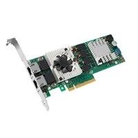 Dell Intel Duálny port 10 Gb serverový adaptér sítě Ethernet, karta síťového rozhraní PCIe.
