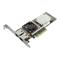 Dell QLogic 57810 Duálny port 10 Gb Base-T serverový adaptér sítě Ethernet, karta síťového rozhraní PCIe.