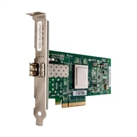 Dell QLogic 2560, Single Port 8Gb Optical Fibre Channel-värdbussadapter, fullhöjd, CusKit
