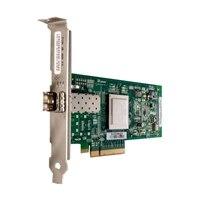 Dell QLogic 2560, Single Port 8Gb Optical Fibre Channel-värdbussadapter, fullhöjd, CusKit