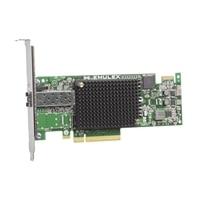 Dell Emulex LPe16000B 1 portar 16Gb Fibre Channel värdbussadapter - fullhöjd